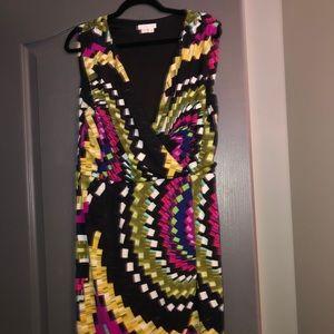 Beautiful bright coloured dress.
